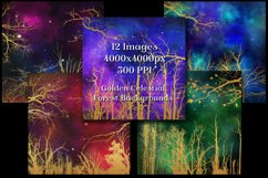 Golden Celestial Forest Backgrounds - 12 Image Textures Set Product Image 2