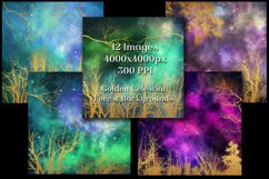 Golden Celestial Forest Backgrounds - 12 Image Textures Set Product Image 3