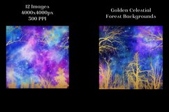 Golden Celestial Forest Backgrounds - 12 Image Textures Set Product Image 4