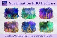 Sublimation PNG Designs - Golden Celestial Forest Product Image 1