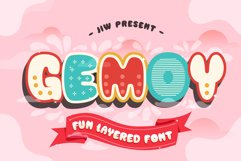 GEMOY - Fun Layered Font Product Image 1