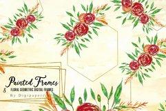 Geometric floral digital frames, Wedding floral bouquet Product Image 1