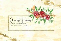 Geometric floral digital frames, Wedding floral bouquet Product Image 3