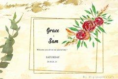 Geometric floral digital frames, Wedding floral bouquet Product Image 4