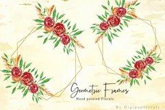 Geometric floral digital frames, Wedding floral bouquet Product Image 2