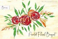 Geometric floral digital frames, Wedding floral bouquet Product Image 5