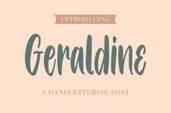Web Font Geraldine - Handlettering Font Product Image 1