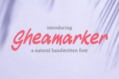 Gheamarker - Natural Handwritten Font Product Image 1