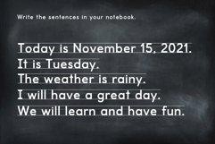 School Days Font with Writing Lines Product Image 4