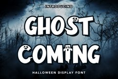 Ghost Coming - Halloween Display Font Product Image 1