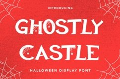 Web Font Ghostly Castle - Halloween Display Font Product Image 1