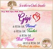 Funny Gigi Svg | Partner In Crime Grandmother Gift Design Product Image 2