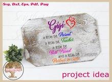 Funny Gigi Svg | Partner In Crime Grandmother Gift Design Product Image 4