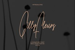 Gilly Fleurs Signature Font Product Image 1