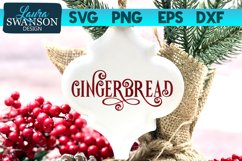 Gingerbread SVG Cut File | Christmas SVG Cut File Product Image 1