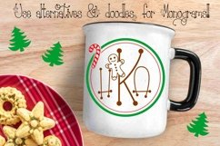 Gingerbread Font | Christmas Font | Multilingual | Glyphs Product Image 2