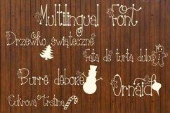 Gingerbread Font | Christmas Font | Multilingual | Glyphs Product Image 6