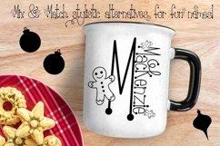 Gingerbread Font | Christmas Font | Multilingual | Glyphs Product Image 3