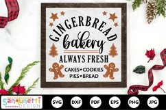 Gingerbread bakery SVG Christmas sign Product Image 1