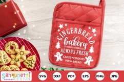 Gingerbread bakery SVG Christmas sign Product Image 2