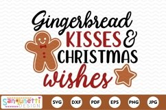 Gingerbread kisses & Christmas SVG Product Image 2