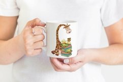 Book Lover Sublimation   Giraffe with Books Print Product Image 2