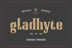 Gladhyte   Vintage Display Font Product Image 1