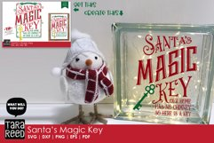 glass block made with Santas Magic Key SVG and Cut Files for Crafters