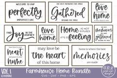 Farmhouse Home Bundle - 10 Farmhouse Sign SVGs Product Image 1