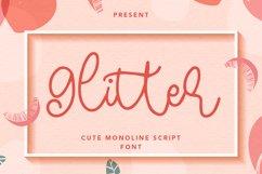Glitter - Cute Monoline Script Font Product Image 1