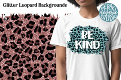 Glitter Leopard Print Backgrounds for Sublimation Product Image 1