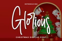Web Font Glorious - Christmas Display Font Product Image 1