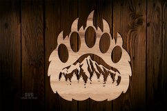 Bear Paw SVG Glowforge Sign Bear Laser Files Mountain Décor Product Image 3
