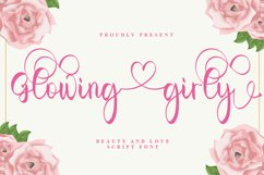 Glowing Girly - A Love Script Font Product Image 1