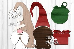 Gnome Christmas Countdown Sign SVG Glowforge Laser Files Product Image 3