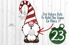 Gnome Christmas Countdown Sign SVG Glowforge Laser Files Product Image 2
