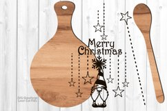 Merry Christmas Gnome Cutting Board Spoon SVG Laser Files Product Image 2