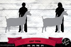Goat Show Vector Silhouette Product Image 1