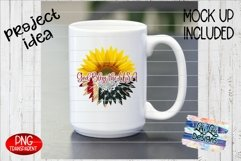 God Bless the USA American Flag Sunflower Split PNG Product Image 6