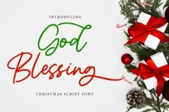 Web Font God Blessing - Christmas Script Font Product Image 1