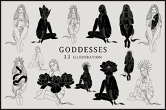 Abstract Goddesses Clipart Product Image 1