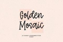 Golden Mosaic script Product Image 1