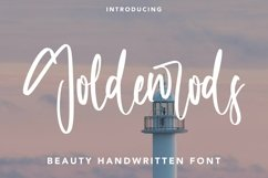 Web Font Goldenrods - Beauty Handwritten Font Product Image 1