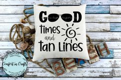 Good Times Tan Lines Beach SVG Product Image 2