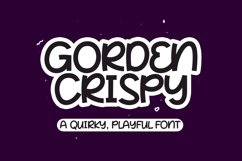 Gorden Crispy - Quirky Playful Font Product Image 1