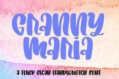 Web Font Granny Maria - A Chunky Clean Marker Font Product Image 1