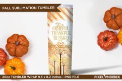 Grateful, Thankful, Blessed sublimation wrap for tumblers