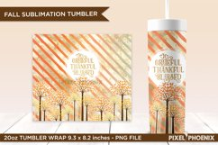 Grateful, Thankful, Blessed tumbler design with fall colours