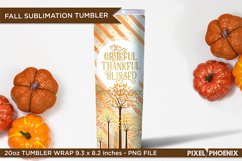 Fall Sublimation Wrap for skinny tumbler, 20oz Tumbler Wrap Product Image 3