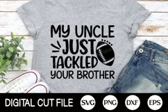 Football SVG, Football Player Uncle, Football Fan Shirt, DXF Product Image 3